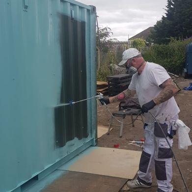 UPVC spraying